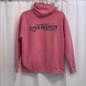 LOVE RANCH CATHOUSE hoodie size large
